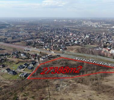 Działka 2,73 ha pod logistykę, handel, obiekty przemysłowe i składowe.