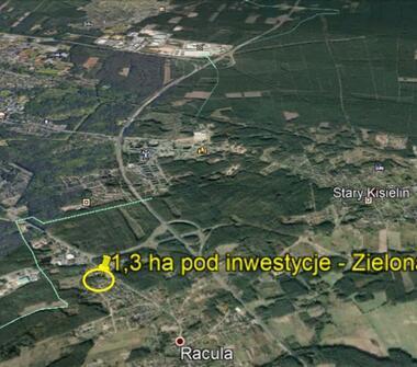 Dz. Inwestycyjna 1,3 ha S3 Zielona Góra/Racula