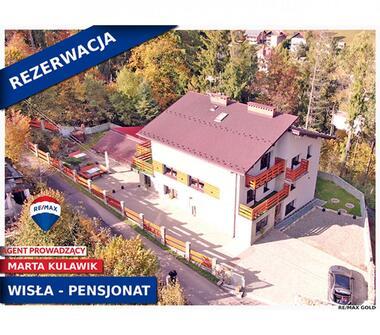 Działający pensjonat w Wiśle, w malowniczym otoczeniu gór Beskidu Śląskiego