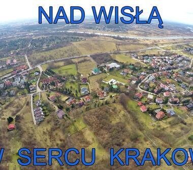 Działka nad Wisłą, 4 km od rynku w Krakowie